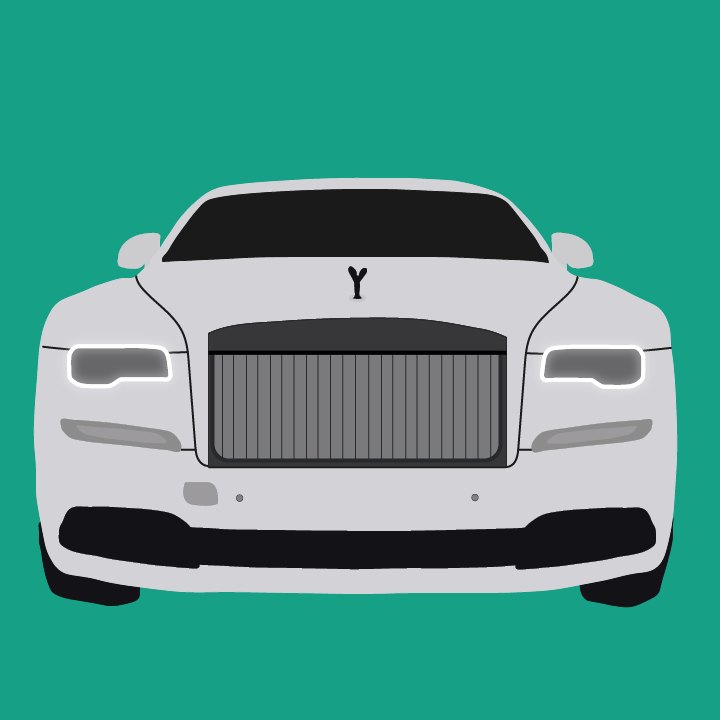 Rolls Royce Illustration by Heather Skovlund for 360 Magazine