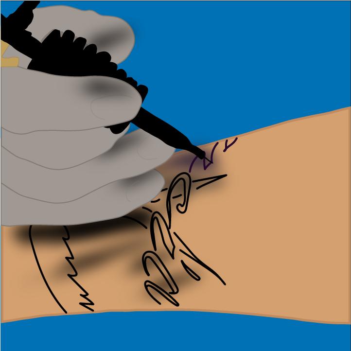 Tattoo Illustration by Heather Skovlund for 360 Illustration