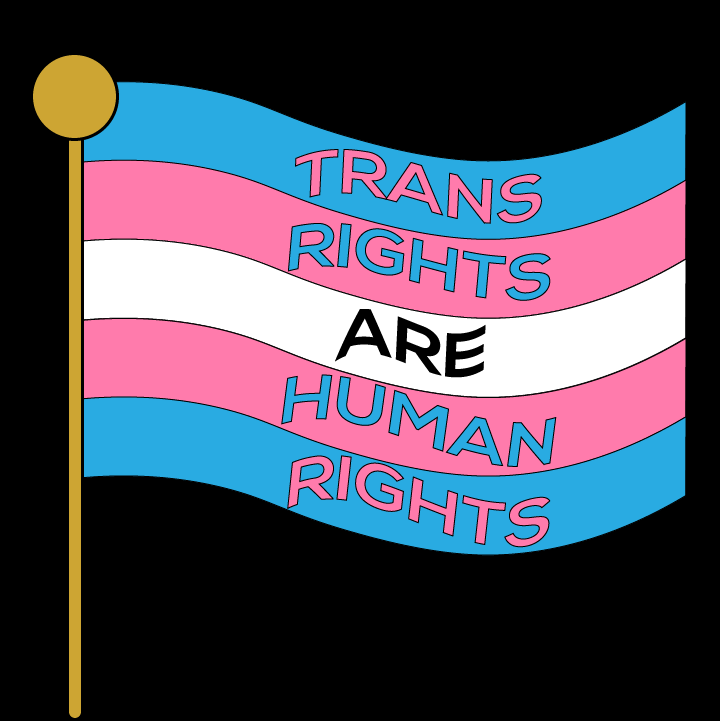 Trans Rights illustration by Heather Skovlund for 360 Magazine