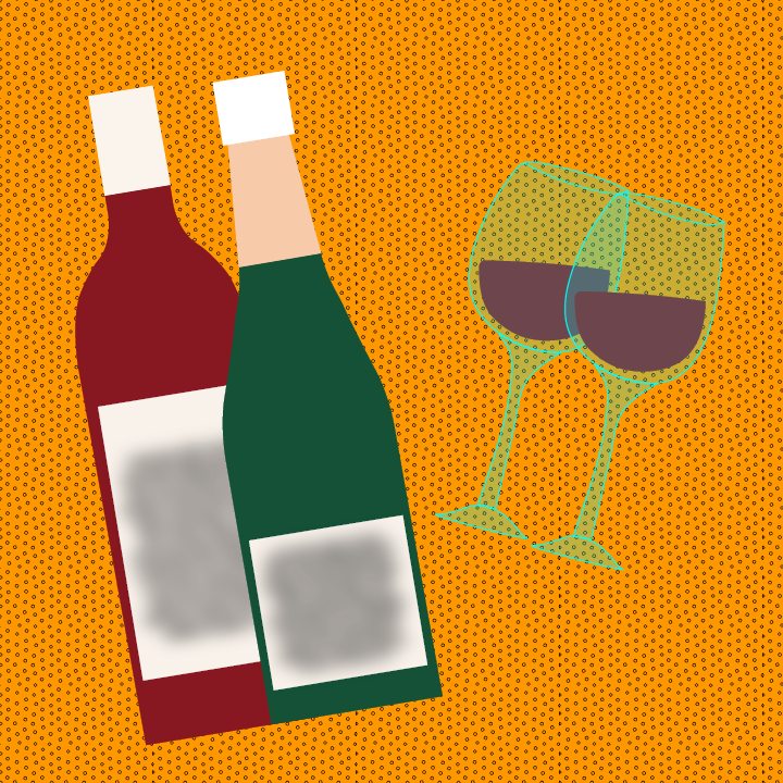 Wine illustration by Heather Skovlund for 360 Magazine