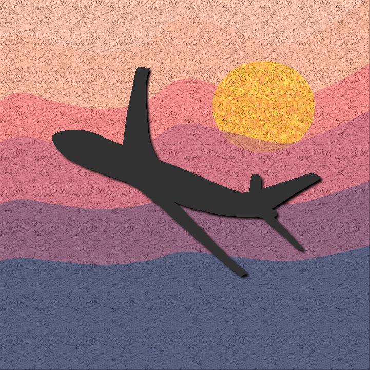 Airplane illustration by Heather Skovlund for 360 Magazine