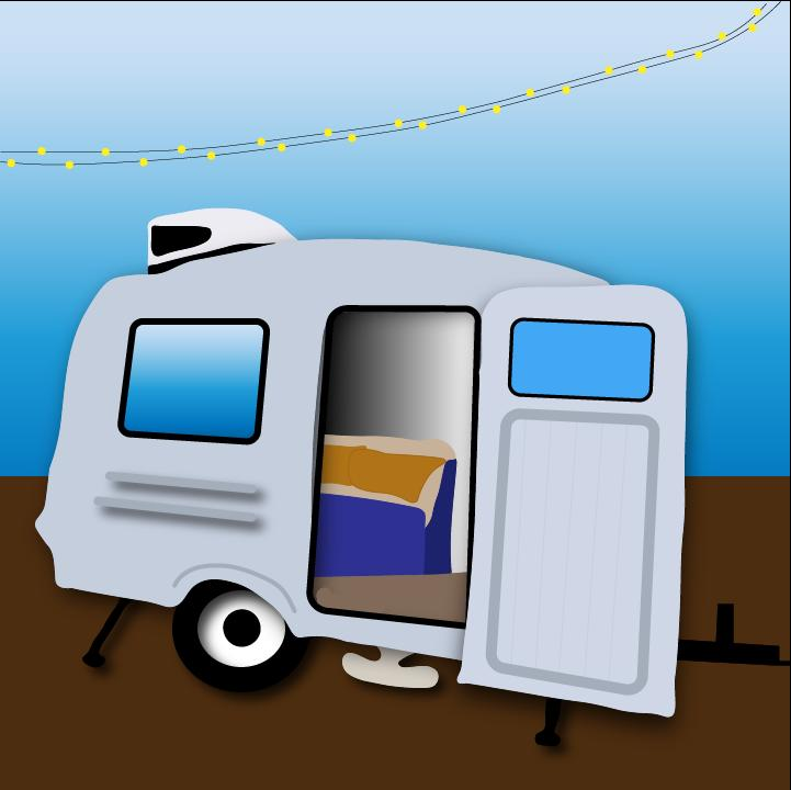 RV camper illustration by Heather Skovlund for 360 MAGAZINE