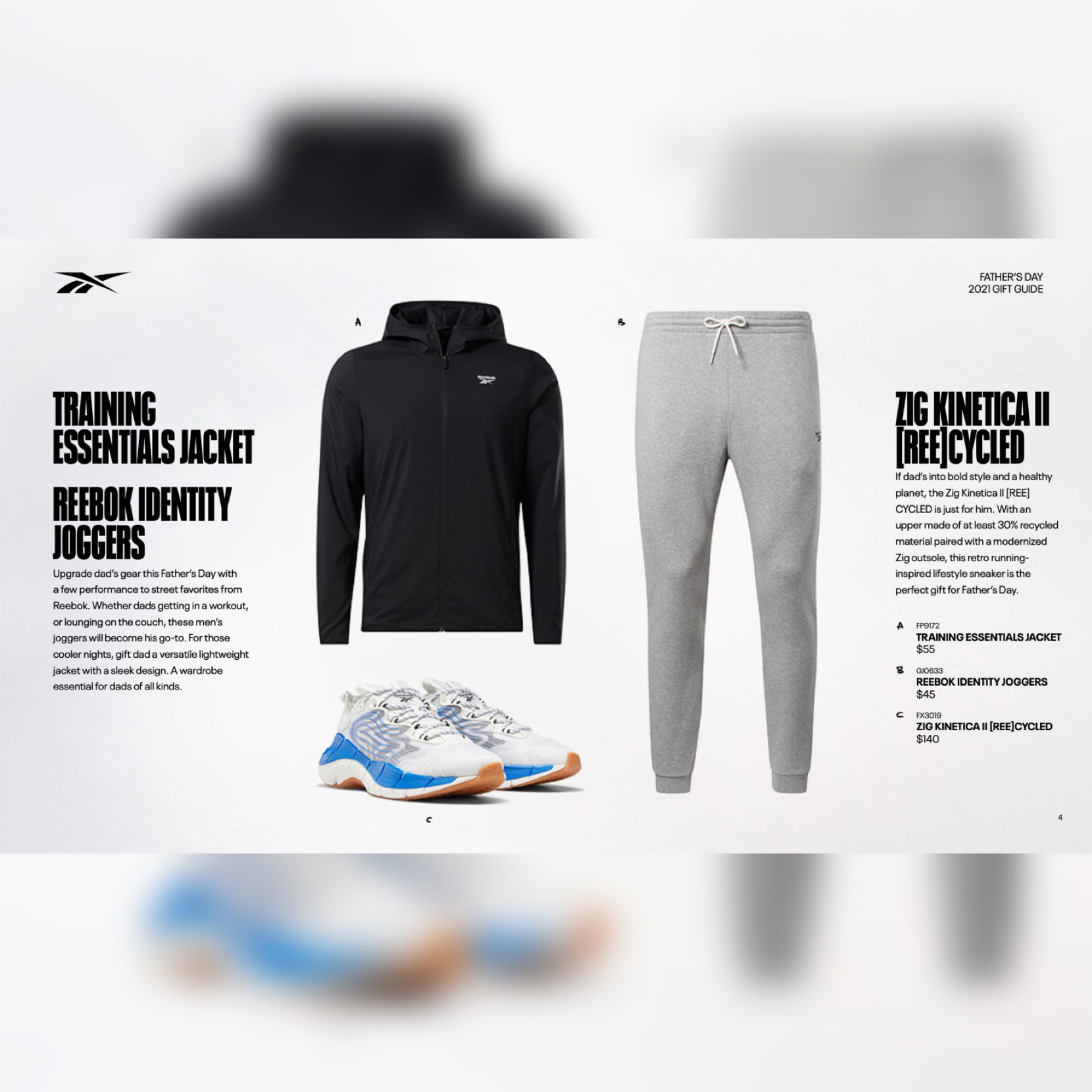 Reebok father's day gift guide image via Jason SIlva for use by 360 Magazine