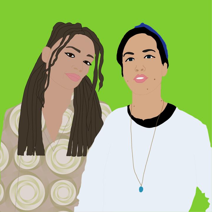Lisa Bonet & My-Lihn Le illustration by Heather Skovlund for 360 Magazine