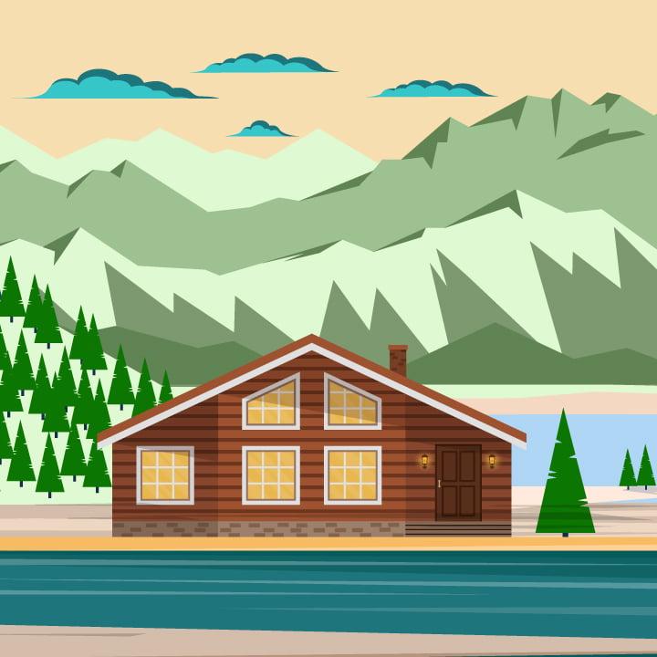 Lodge illustration by Maria Soloman for 360 Magazine