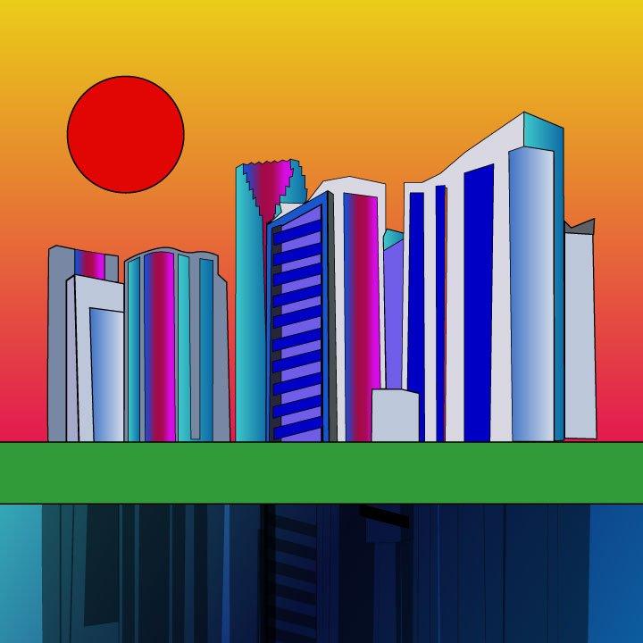 Miami Florida illustration by Kaelen Felix for 360 Magazine