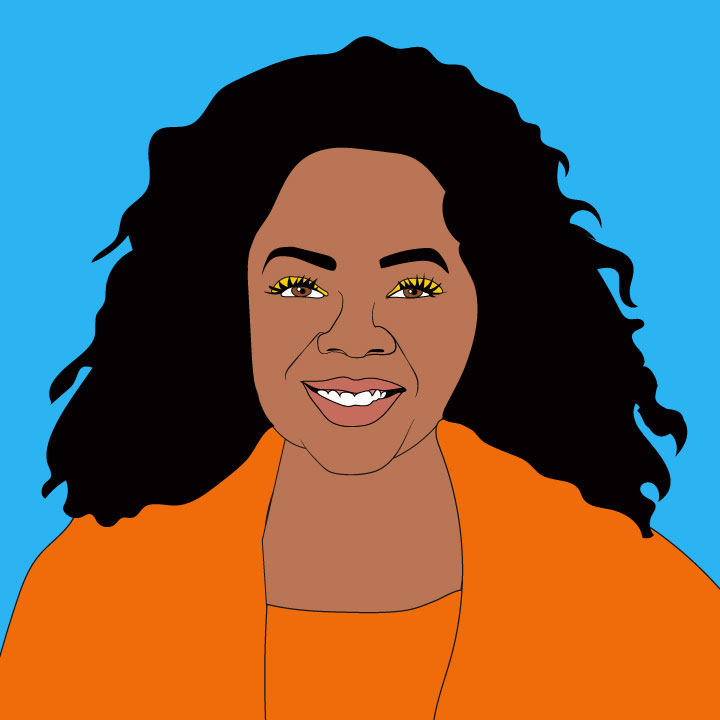 Oprah Winfrey illustration by Kaelen Felix for 360 Magazine
