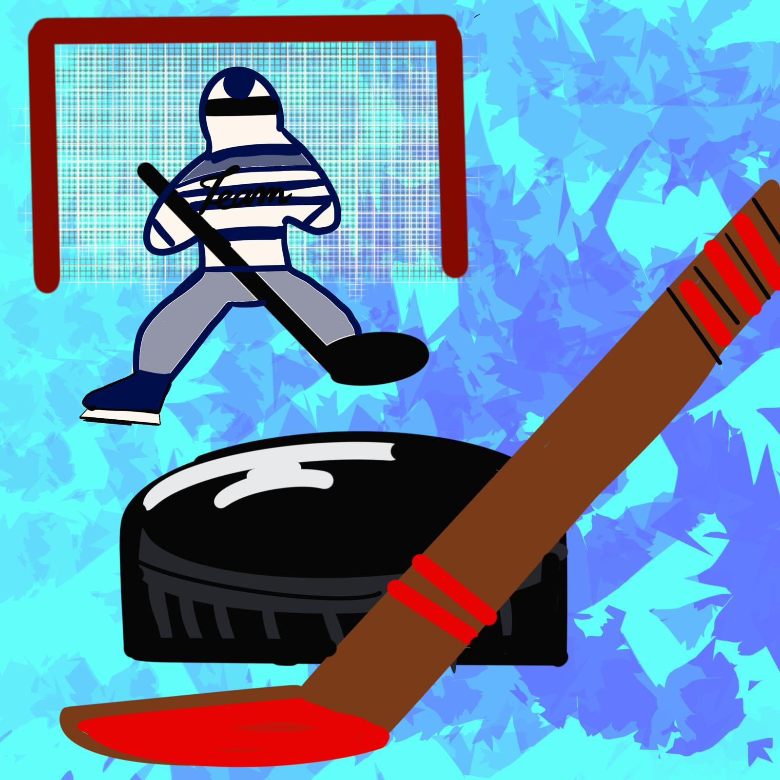 Nicole Salazar illustration for hockey article in 360 magazine