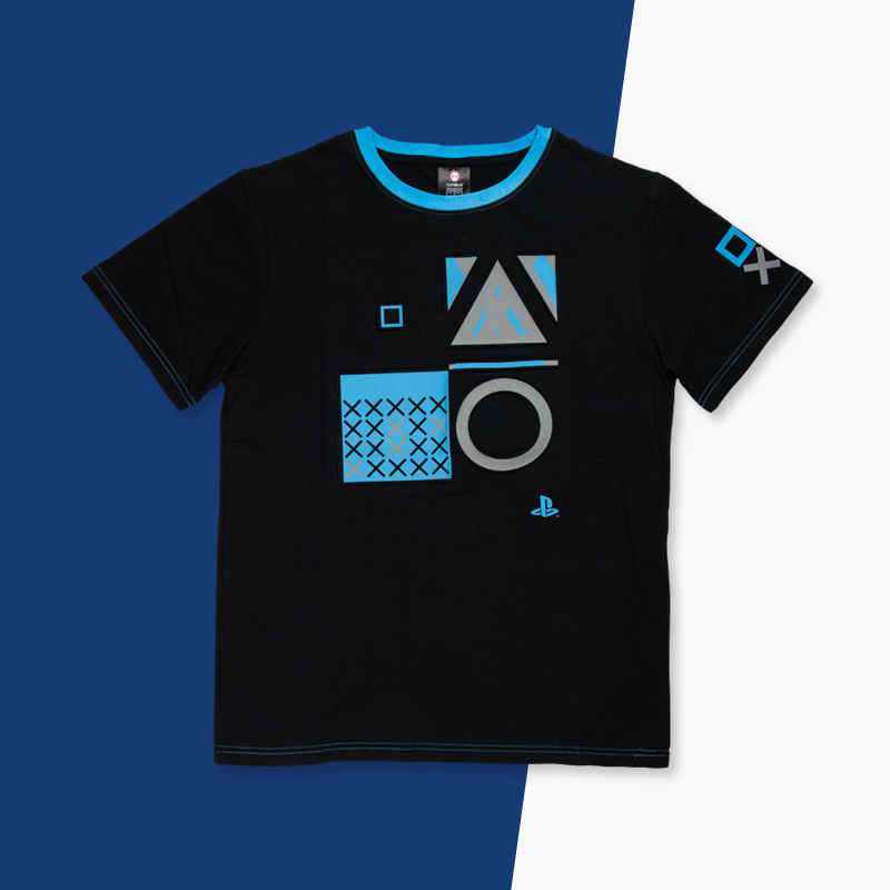 PS Core black t shirt by PlayStation for use by 360 Magazine