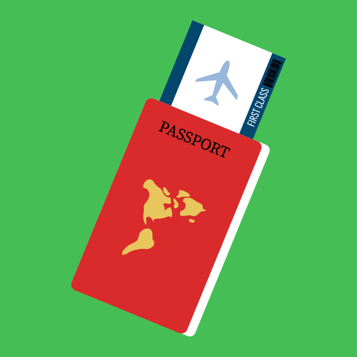 Passport illustration by Heather Skovlund for 360 Magazine