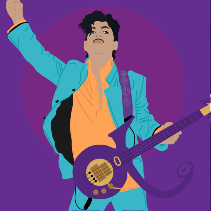 Prince Illustration Heather Skovlund for 360 Magazine