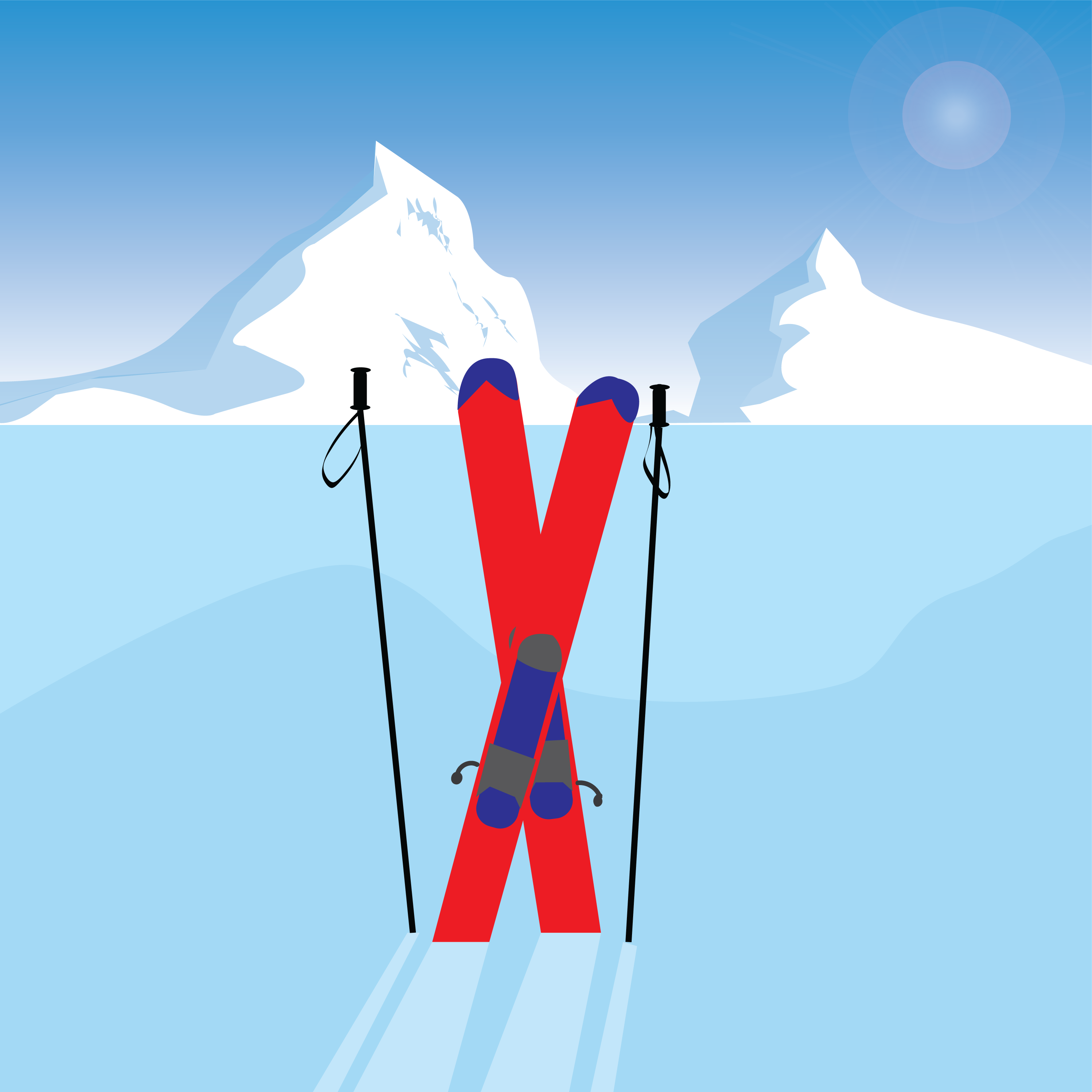 ski scene by Gabrielle Marchan for use by 360 Magazine
