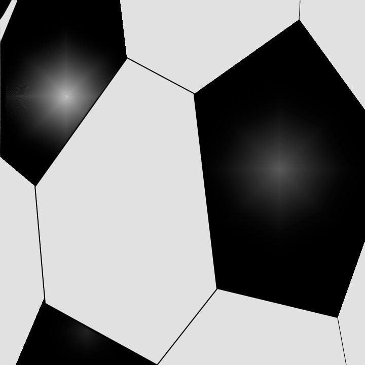 Soccer ball illustration by Kaelen Felix for 360 Magazine