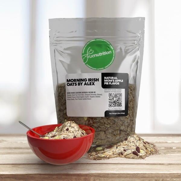 True Nutrition custom oatmeal product shot via Angela Drinkwater for use by 360 Magazine