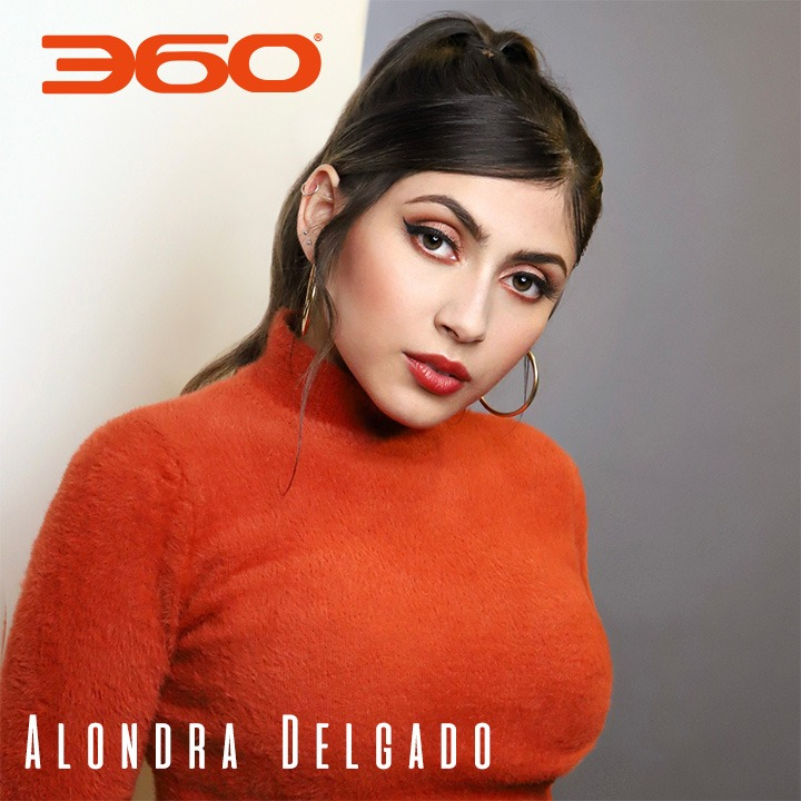 Alondra Delgado shot by Tim Schaeffer, Makeup/Hair by Johnna J. Perez, Styled by Sean Dylan Perry. For use by 360 Magazine