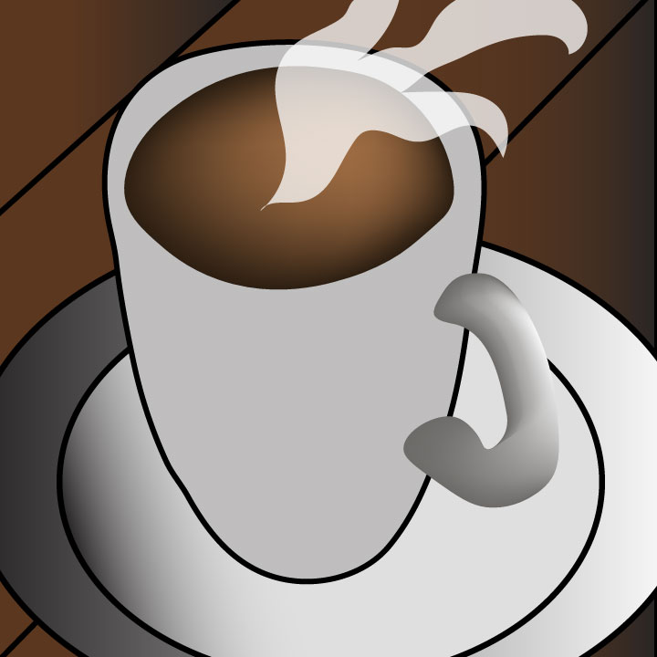 coffee illustration by Kaelen Felix for use by 360 Magazine