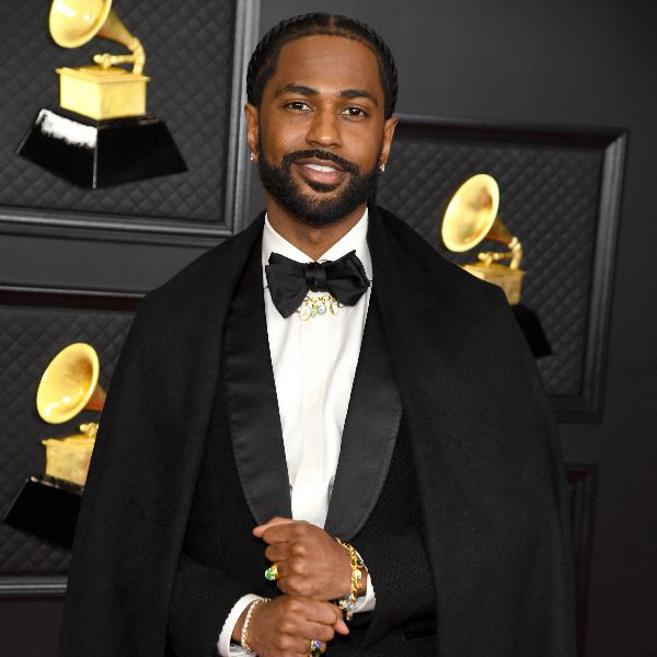 Big Sean attends the 63rd Annual GRAMMY Awards at Los Angeles Convention Center on March 14, 2021 in Los Angeles, California wearing Ermenegildo Zegna tuxedo and Loren Nicole jewelery (Photo by Kevin Mazur/Getty Images for The Recording Academy for use by 360 Magazine