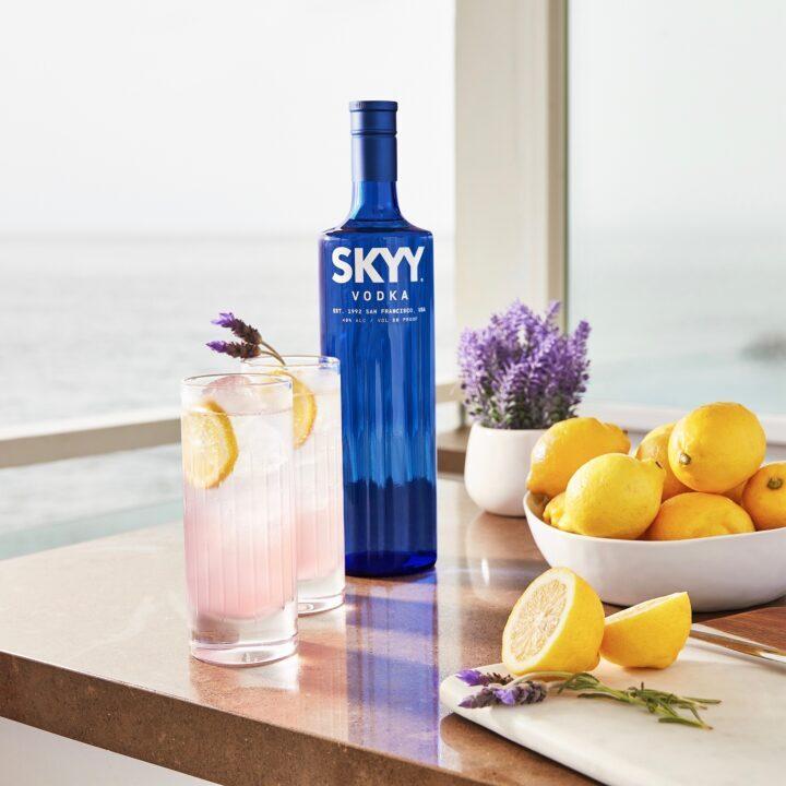 Skyy Vodka Sparkling Lavender Lemonade image via Russell Howe at Reserve bar for use by 360 Magazine