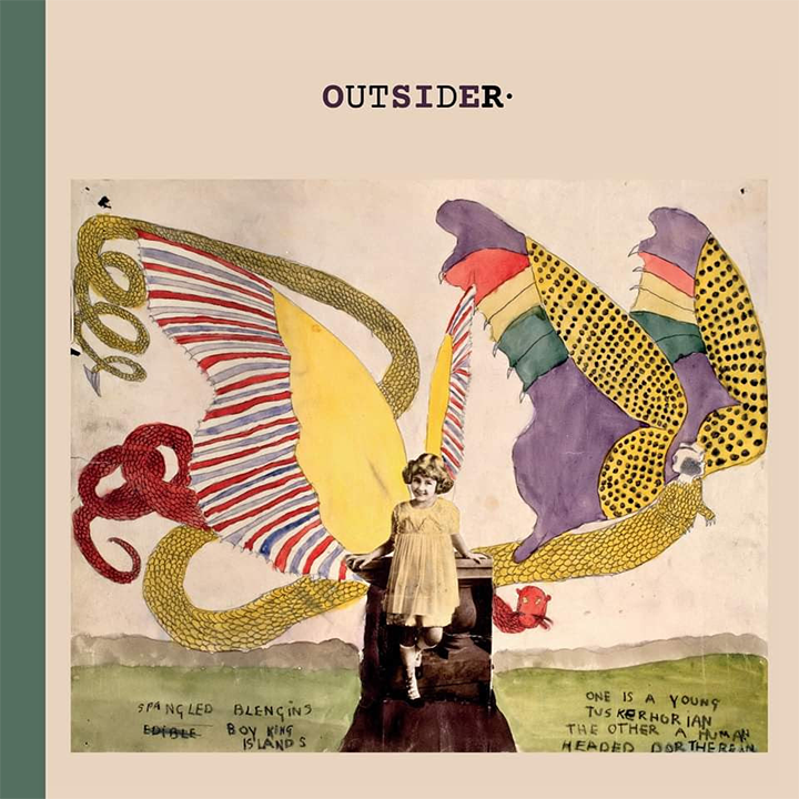 Album cover with original artwork: Henry Darger, Spangled Blengins. Edible. Boy King Islands. One is a young Tuskerhorian the other a human headed Dortherean