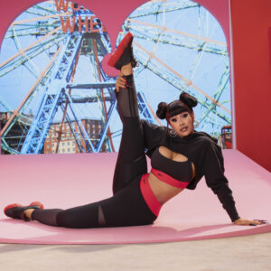 Cardi B x Reebok collection press image for use by 360 Magazine