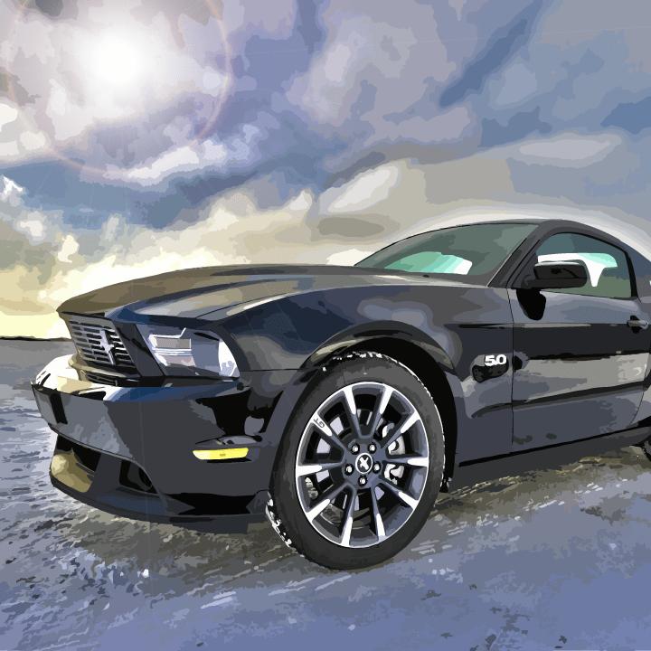 Automobile illustration by Heather Skovlund for 360 Magazine