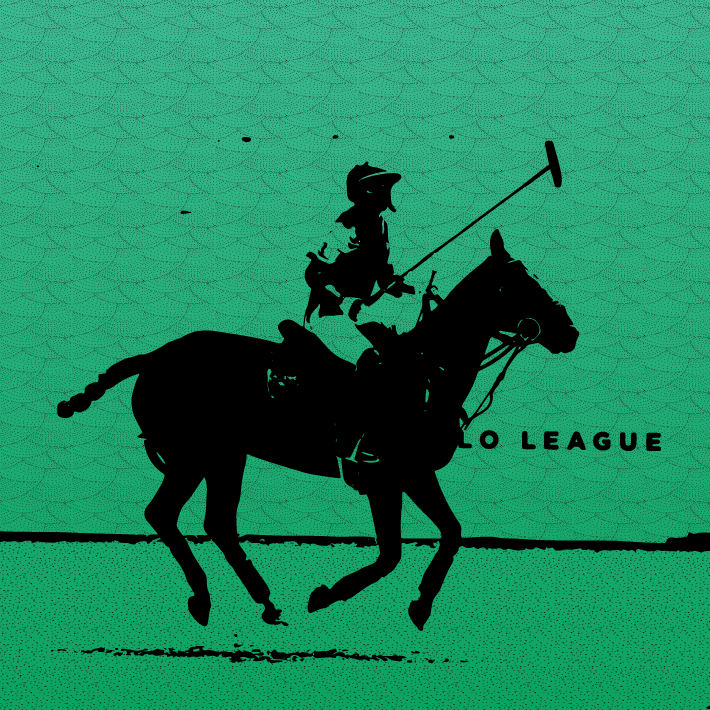 Beach Polo illustration by Heather Skovlund (photo credit Alchemy) for 360 Magazine