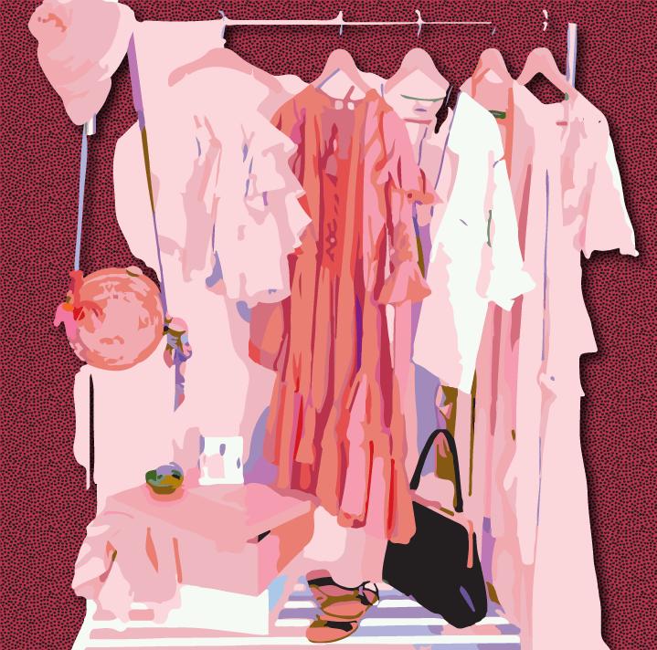 Boutique illustration by Heather Skovlund for 360 Magazine