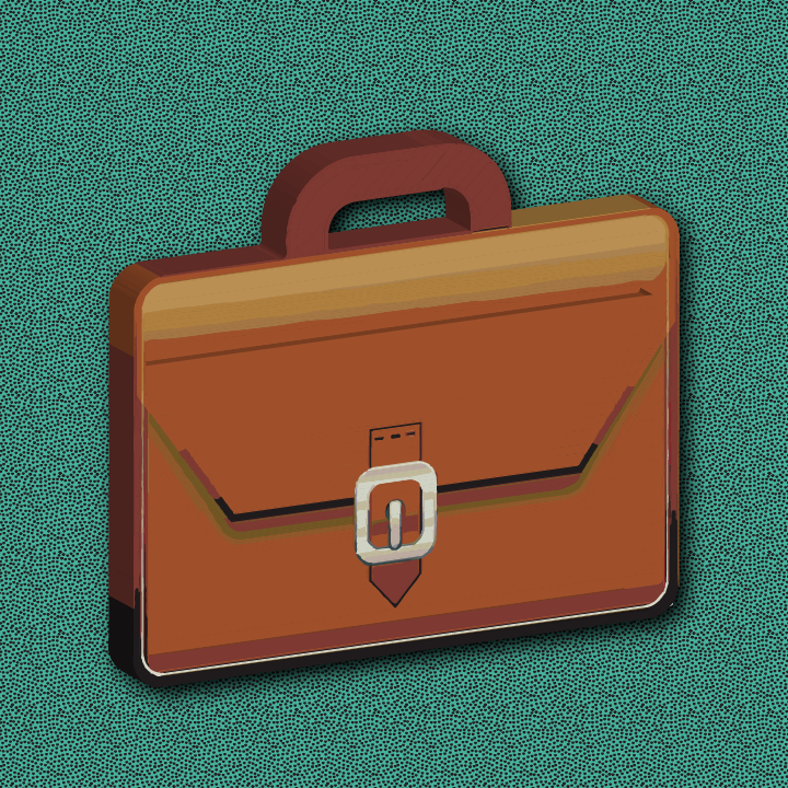 Briefcase illustration by Heather Skovlund for 360 Magazine