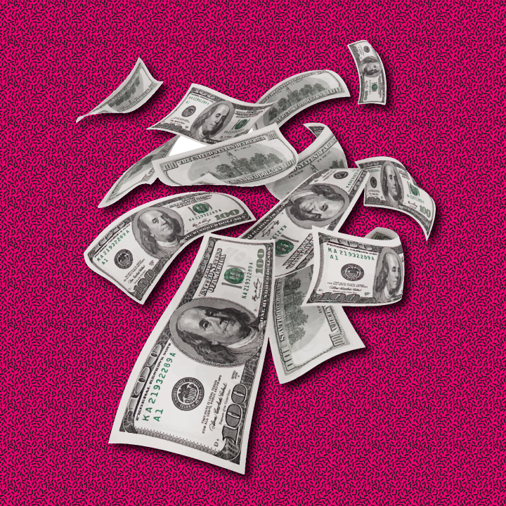 Money illustration by Heather Skovlund for 360 Magazine