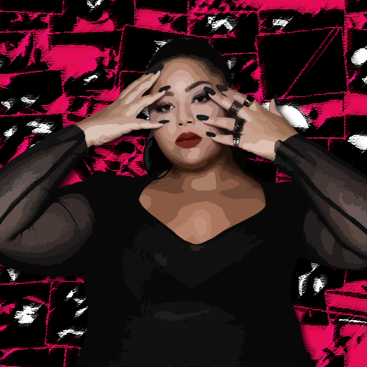 Eurovision Singer Destiny illustration by Heather Skovlund (Photo Credit: Carlton Agius) for 360 Magazine
