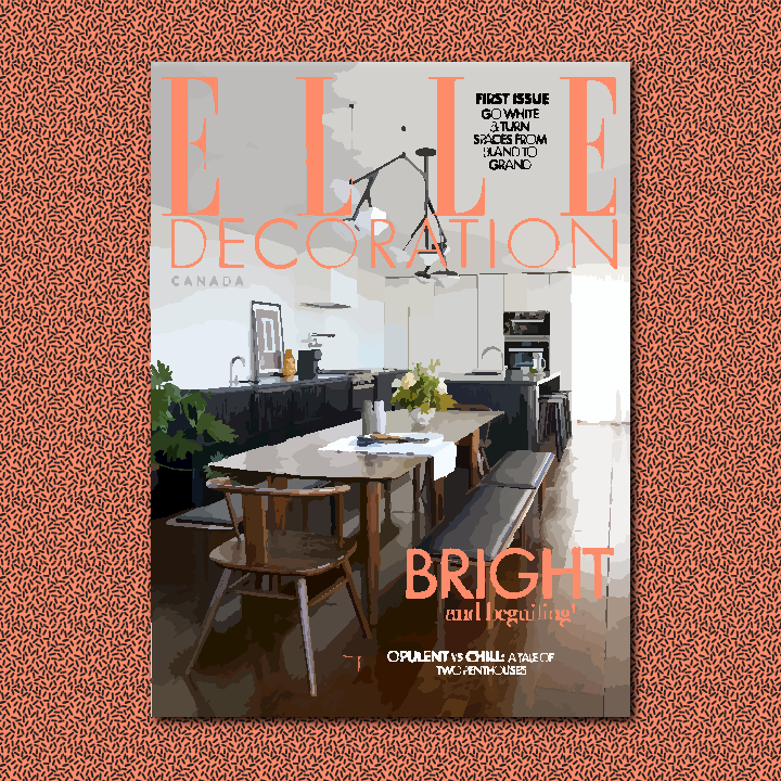 Elle Decoration Canada illustration by Heather Skovlund for 360 Magazine