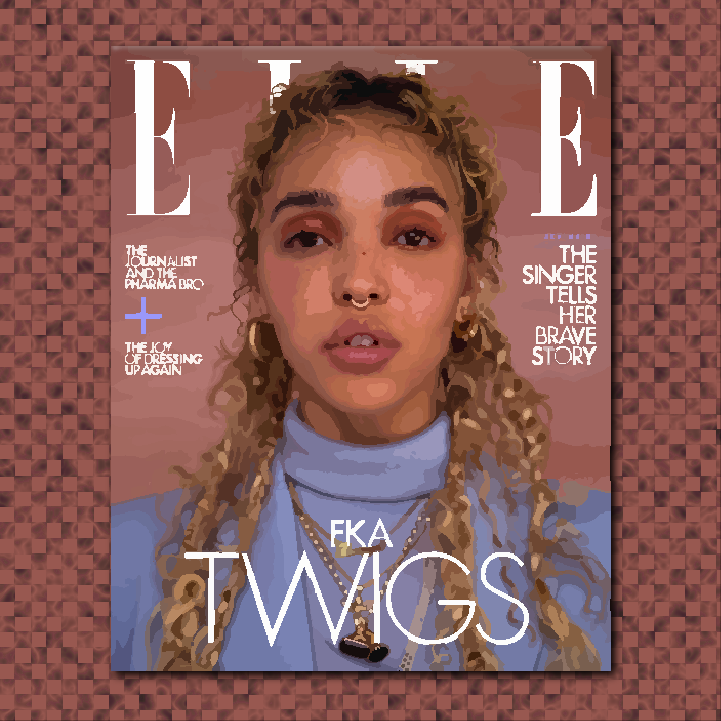 Elle Canada x FKA Twigs cover illustration by Heather Skovlund for 360 Magazine