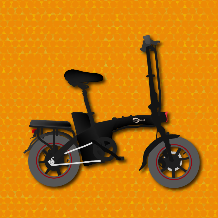 F-wheel A5 Electric Bike illustrated by Heather Skovlund for 360 Magazine