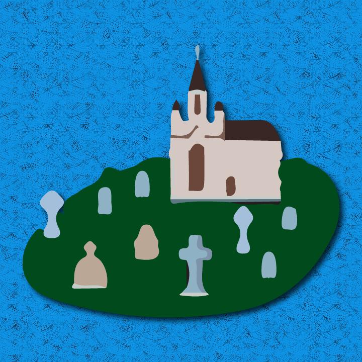 Cemetery illustration by Heather Skovlund for 360 Magazine