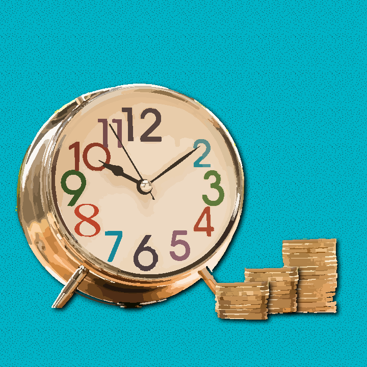 Money clock illustration by Heather Skovlund for 360 Magazine