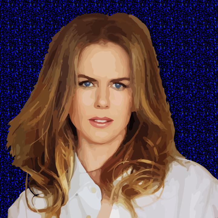 Nicole Kidman illustration by Heather Skovlund for 360 Magazine