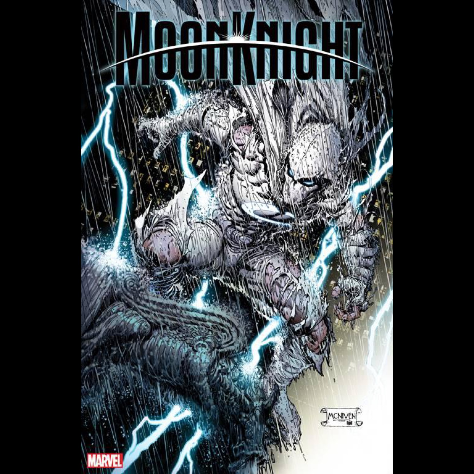 "Marvel's ""Moon Knight"" Cover by STEVE MCNIVEN for use by 360 MAGAZINE"