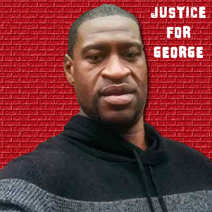 Justice for George illustration by Heather Skovlund for 360 Magazine