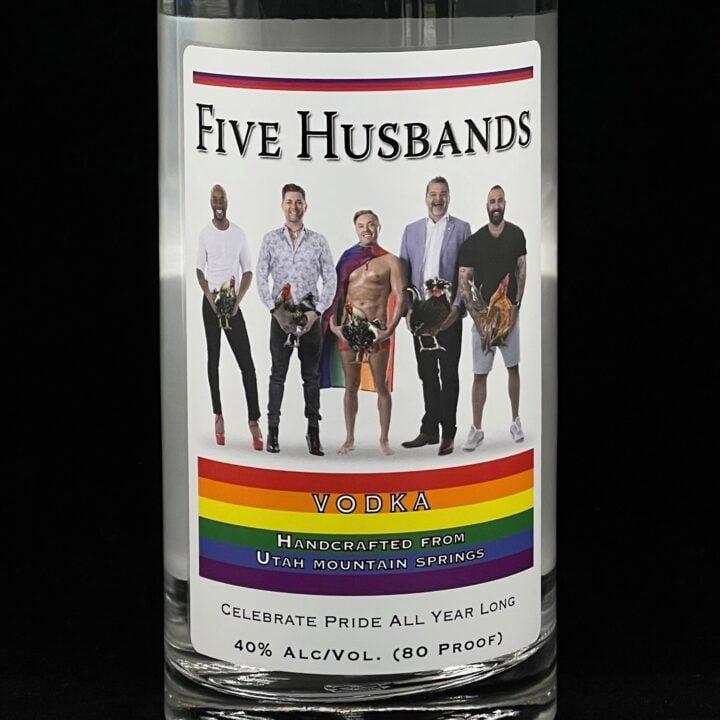 Ogden's Own Five Husbands Pride Bottle via Ruben Marinbach at GreenRoom for use by 360 Magazine