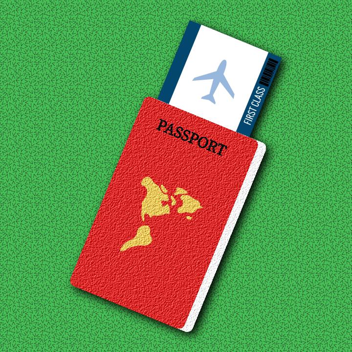 Passport illustration by Heather Skovlund for 360 Magazine