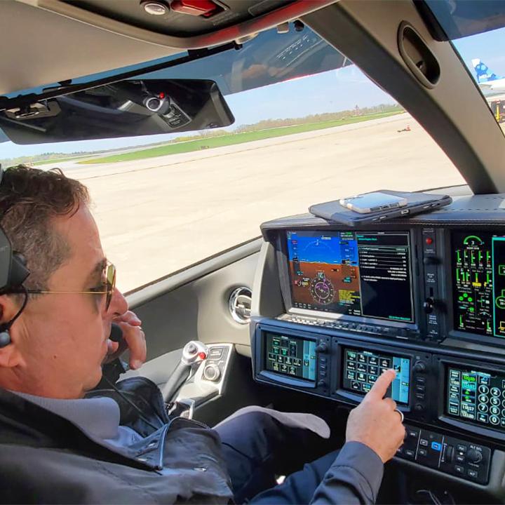Pilot of Vision Jet