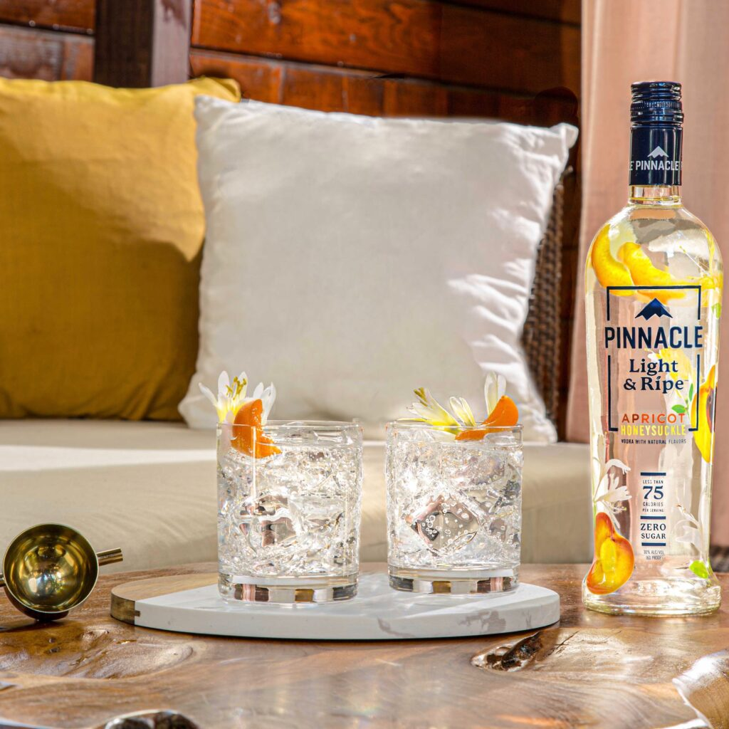 Pinnacle Light & Ripe Apricot Honeysuckle spritz for use by 360 Magazine