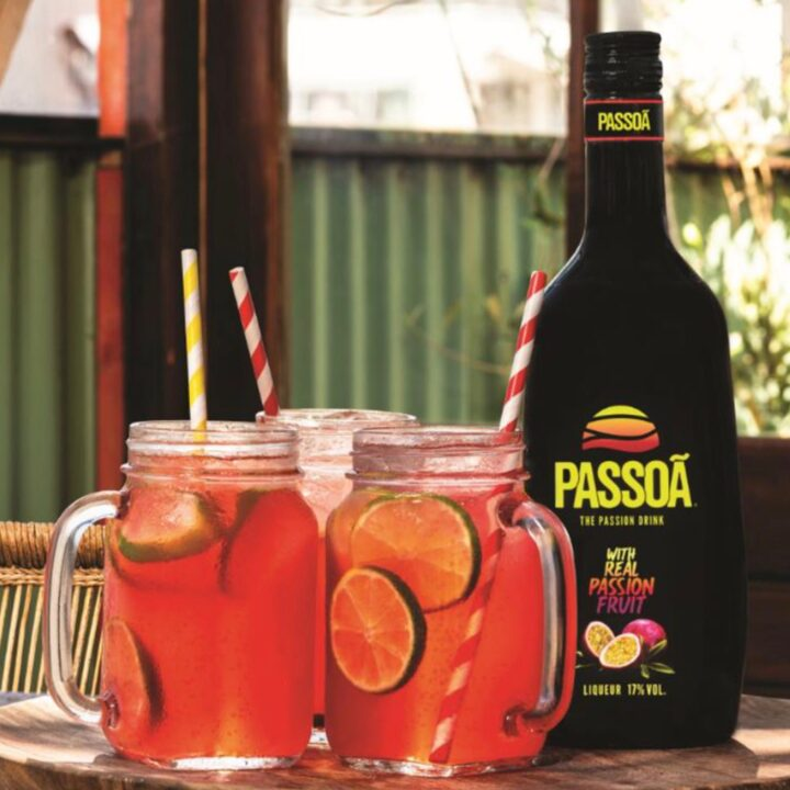 Passoa Passion fruit liquor Sangria lifestyle image image via Russell Howe for use by 360 Magazine