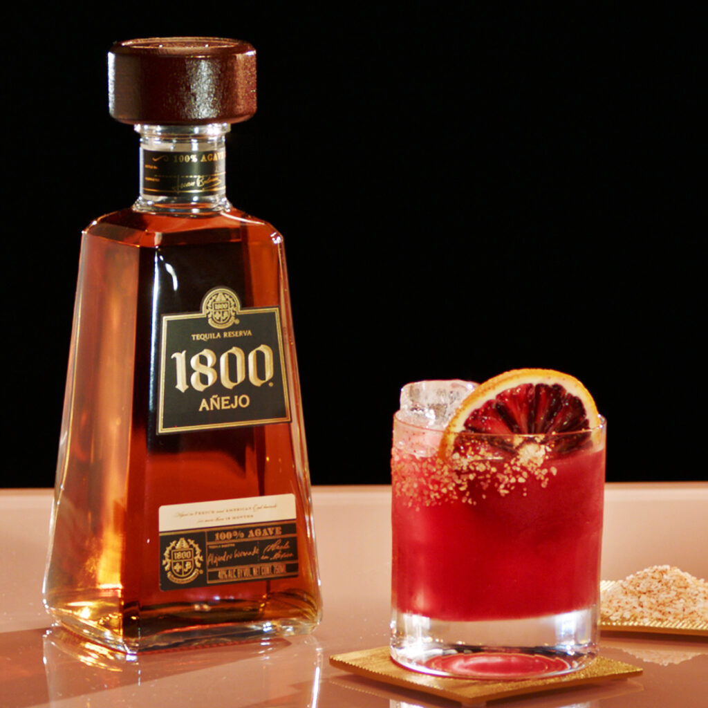 Spiced Blood Orange Paloma from 1800 Tequila via Edmund Billings at Exposure America for use by 360 Magazine