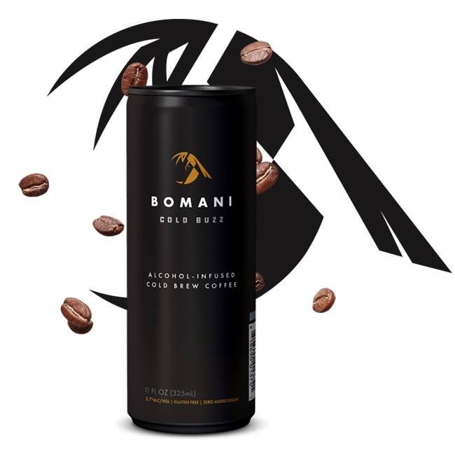 BOMANI cold buzz product image via Karey Cavaney at Blaze PR for use by 360 Magazine