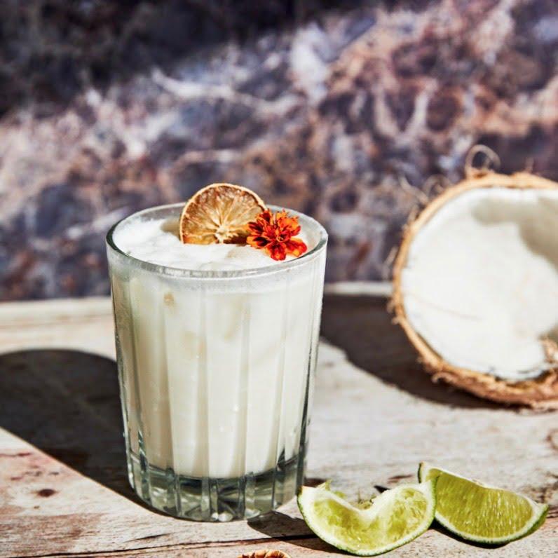 The Coconut Margarita by Santo Spirits via Elena Sheridan at Fingerpint communications for use 360 Magazine