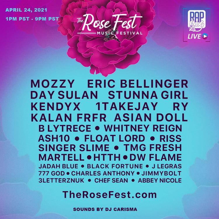 The Rose Fest line up press image. Photo Courtesy: Rap Plug Live. For use by 360 Magazine.
