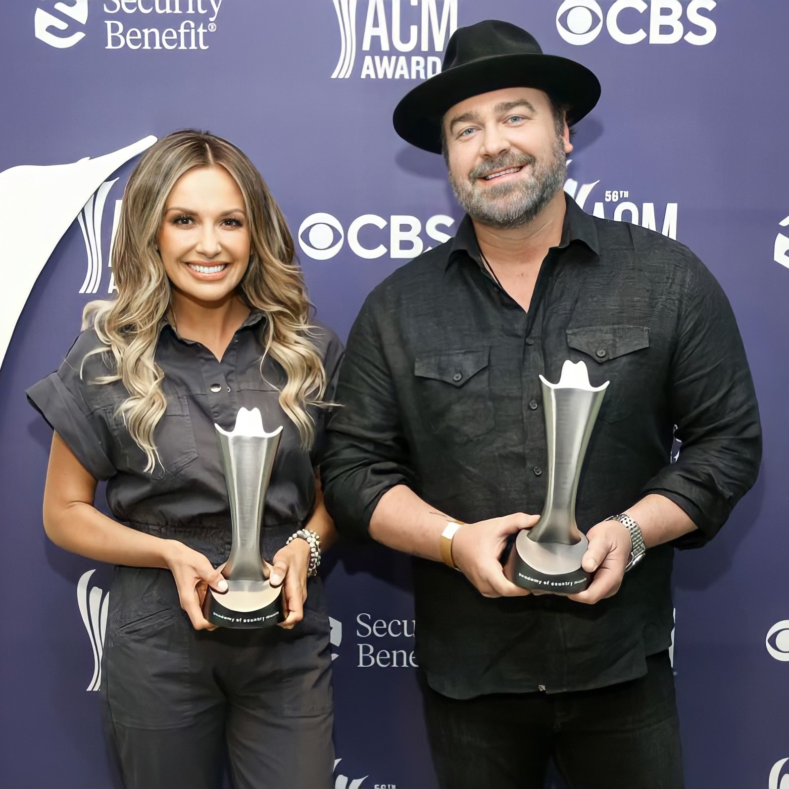 CARLY PEARCE and LEE BRICE shot by Terry Wyatt- Getty Images for ACM. for use by 360 Magazine