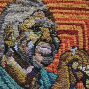artwork by Indira Cesarine, for UNRAVELED Confronting The Fabric of Fiber Art. For use by 360 Magazine
