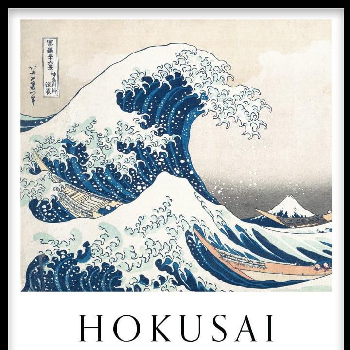 Hokusai's The Wave via Amanda Eklof for Desenio for use by 360 Magazine